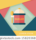 kitchenware sugar flat icon with long shadow,eps10 15820368