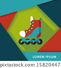 roller skates flat icon with long shadow,eps10 15820447