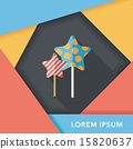 Sweets and candies flat icon with long shadow,eps 10 15820637