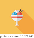 ice cream flat icon with long shadow,eps10 15820941