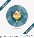 ice cream flat icon with long shadow,eps10 15820971