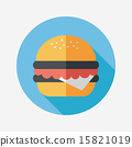 sandwich flat icon with long shadow,eps10 15821019