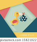 bird and baby flat icon with long shadow,eps10 15821022