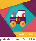 tractor flat icon with long shadow,eps10 15821037