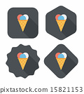 ice cream flat icon with long shadow,eps10 15821153