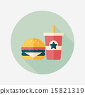 hamburger and soda flat icon with long shadow,eps10 15821319