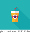 soda drink flat icon with long shadow,eps10 15821320