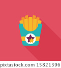 french fries flat icon with long shadow,eps10 15821396