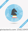 chess flat icon with long shadow,eps10 15821649