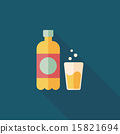 soda drink flat icon with long shadow,eps10 15821694
