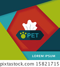 Pet style tissue case flat icon with long shadow,eps10 15821715