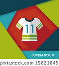 Sports jerseys flat icon with long shadow,eps10 15821845
