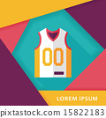 basketball clothing flat icon with long shadow,eps10 15822183