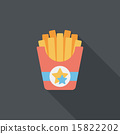 french fries flat icon with long shadow,eps10 15822202