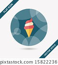ice cream flat icon with long shadow,eps10 15822236