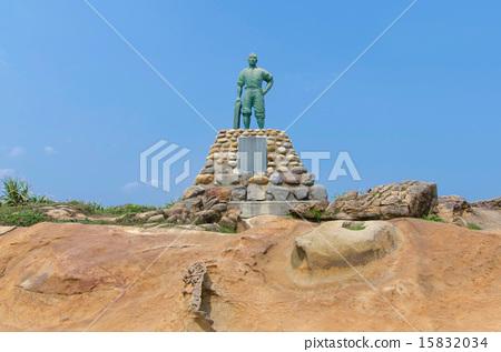 The heroic deeds of Lin Tian Zhen in Yehliu,Taiwan 15832034