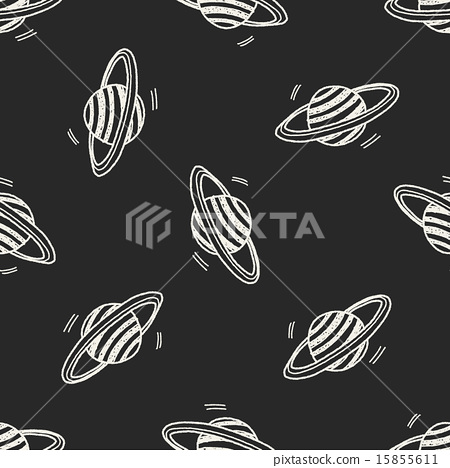 Doodle Planet seamless pattern background 15855611
