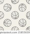 vector doodle seamless 15855639