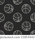 doodle seamless background 15855642