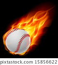 Baseball on fire 15856622