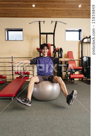 一個人騎平衡球 15859849