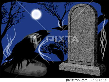 cemetary night 15861363