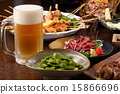 yakitori, draft beer, sparkling wine 15866696