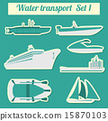 Set of water transport icon  15870103