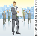 silhouette, business, leader 15878894