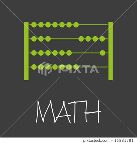 math with abacus design banner and background 15881381