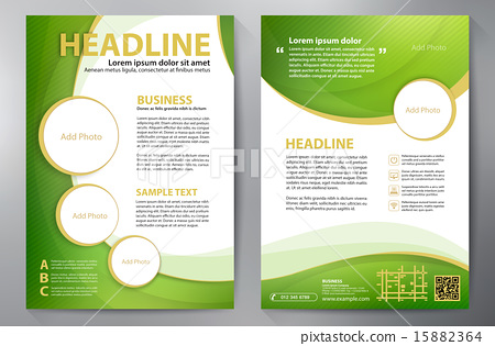 Brochure design a4 template  - Stock Illustration [15882364