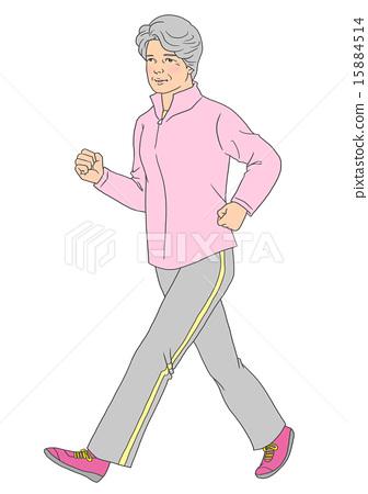 Female Senior Walking 15884514