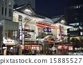 歌舞伎劇場 夜景 點燈 15885527