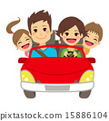 family, vector, driving 15886104