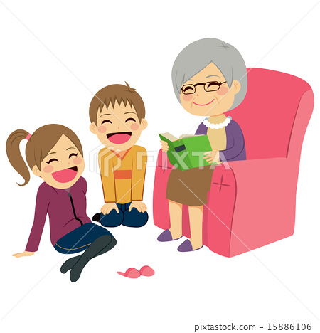 Grandmother Reading Story 15886106