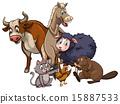 馬兒 奶牛 牲口 15887533