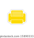 icon sticker realistic design on paper printer 15890333