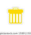 icon sticker realistic design on paper trash 15891150