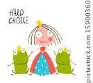 Princess Making Choice between Two Prince Frogs 15900360