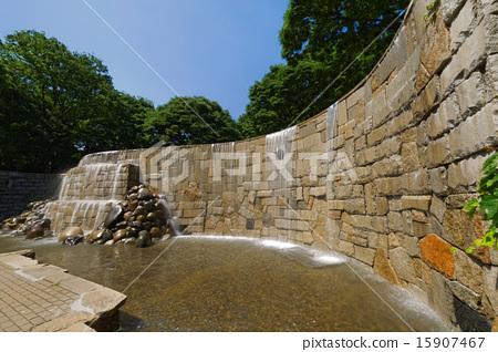 Stock Photo: shinjuku central park, waterfall of shinjuku niagara, water-drop