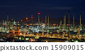 Oil refinery with beautiful sky background 15909015