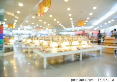 Blurred store with bokeh background. 15913118