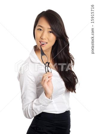 asian business woman glasses stock photo 15915716 pixta