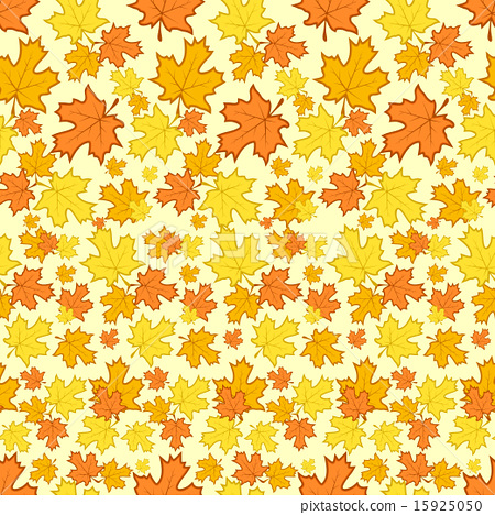 Seamless pattern with colorful autumn leaves. 15925050