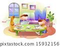 小學學生 畫家 插圖 15932156