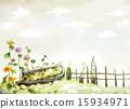 栅栏 围栏 花朵 15934971