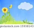 景色 向日葵 植物 15938143