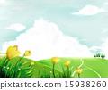 草地 草原 天空 15938260