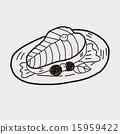 salmon doodle 15959422