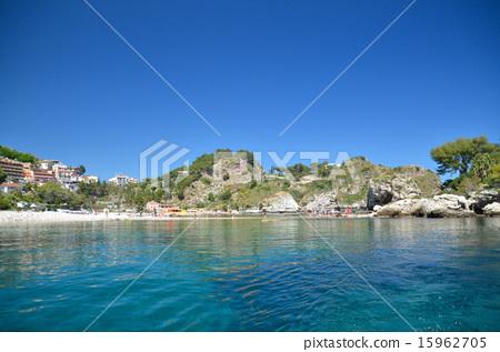 isola bella, Ionian Sea, sandbank 15962705